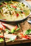 Grüner Schweinefleisch Curry, siamesische Küche Stockfoto