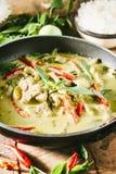 Grüner Schweinefleisch Curry, siamesische Küche Lizenzfreie Stockfotografie