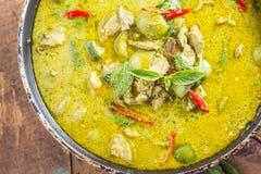 Grüner Schweinefleisch Curry, siamesische Küche lizenzfreie stockfotos