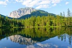 Grüner See (Grüner sehen), in Bruck eine der MUR, Österreich Lizenzfreie Stockbilder