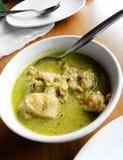 Grüner siamesischer Curry - asiatische Straßensüdostnahrung stockbild