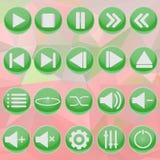 Grüner Spieler auf abstraktem Hintergrund Lizenzfreie Stockfotos