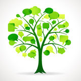 Grüner Sprache-Blasen-Baum lizenzfreie abbildung