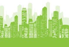 Grüner Stadthintergrund Stockfoto