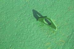 Grüner Stahlring Lizenzfreies Stockfoto