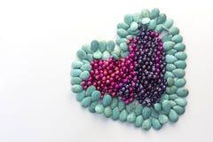 Grüner Stein in einer Herzform Lizenzfreie Stockfotografie