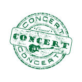 Grüner Stempel des Konzerts Lizenzfreies Stockfoto