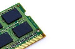 Grüner Stock DDR RAM auf lokalisiertem Hintergrund Stockfotos