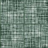 Grüner Stoffbeschaffenheitshintergrund in der Mosaikart Gewebesegeltuchtapete mit gestreiftem Muster maserte kleine Quadrate Lizenzfreies Stockbild