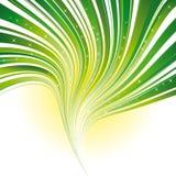 Grüner Streifenstrudelhintergrund mit Sternen Lizenzfreie Stockfotografie