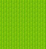 Grüner Strickjacken-Beschaffenheits-Hintergrund Vektor Lizenzfreies Stockbild