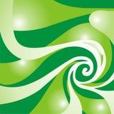 Grüner Strudel Stockbild