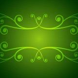 Grüner Strudelhintergrund Stockbild