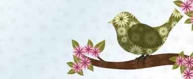 Grüner strukturierter Vogel Lizenzfreies Stockbild