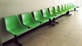 Grüner Stuhl Stockfoto
