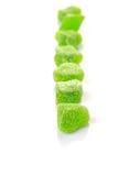 Grüner Sugar Jelly Candy II Lizenzfreies Stockfoto