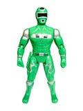 Grüner Superheld getrennt Stockbilder
