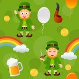 Grüner Tagesnahtloses Muster Patrick s Stockfoto
