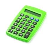 Grüner Taschenrechner Stockfotos