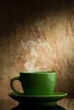 Grüner Tasse Kaffee Stockbild