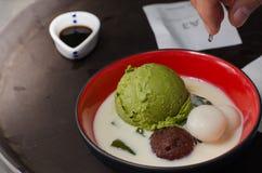 Grüner Tee der Eiscreme Lizenzfreies Stockbild