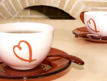 Grüner Tee in einem Cup Stockfotografie