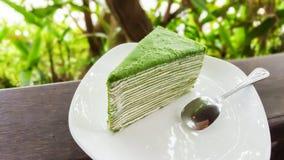 Grüner Tee-Kuchen Lizenzfreie Stockfotografie