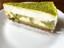 Grüner Tee-Kuchen lizenzfreies stockfoto