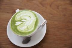 Grüner Tee Latte lizenzfreie stockfotos