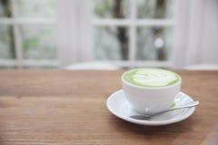 Grüner Tee Latte stockfotos
