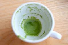 Grüner Tee Latte lizenzfreies stockbild