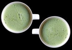 Grüner Tee Latte Stockfotografie