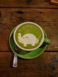 Grüner Tee Latte Stockbilder