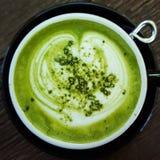 Grüner Tee Macha Latte Stockfoto