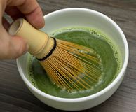 Grüner Tee Matcha Stockfoto
