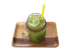 Grüner Tee Matcha-Eises stockbild