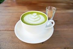 Grüner Tee Matcha Latte Stockbild