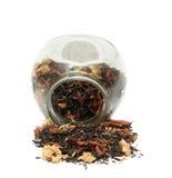 Grüner Tee mit Blumen Lizenzfreies Stockfoto