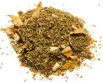 Grüner Tee mit Orange Stockbild