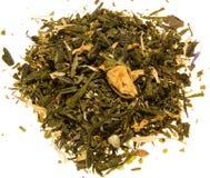 Grüner Tee mit Rosebud Lizenzfreies Stockbild