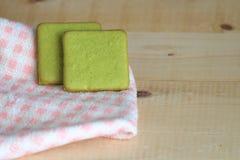 Grüner Tee-Plätzchen Stockbilder