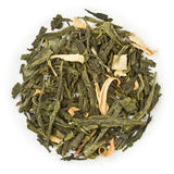 Grüner Tee Sencha Earl Grey Stockbild