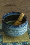 Grüner Tee und wischen Lizenzfreies Stockfoto
