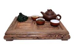 Grüner Tee-Zeremonie Stockfotos