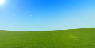 Grüner Teppich auf den Hügeln? Lizenzfreies Stockfoto