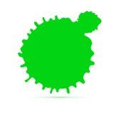 Grüner Tintenfleck entziehen Sie Hintergrund Spracheblase, Illustration des Vektors 3D Schmutzsymbol für Karten, Plakat, Abdeckun Stockfotografie