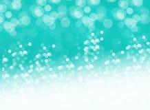 Grüner träumerischer heller Glüheneffekthintergrund Stockbild