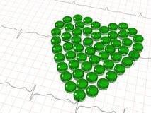 Grüner transparenter Herd der Kapseln lizenzfreie abbildung