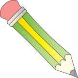 Grüner u. gelber Bleistift Lizenzfreies Stockbild