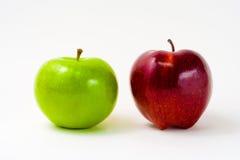 Grüner u. roter Apple Stockbild